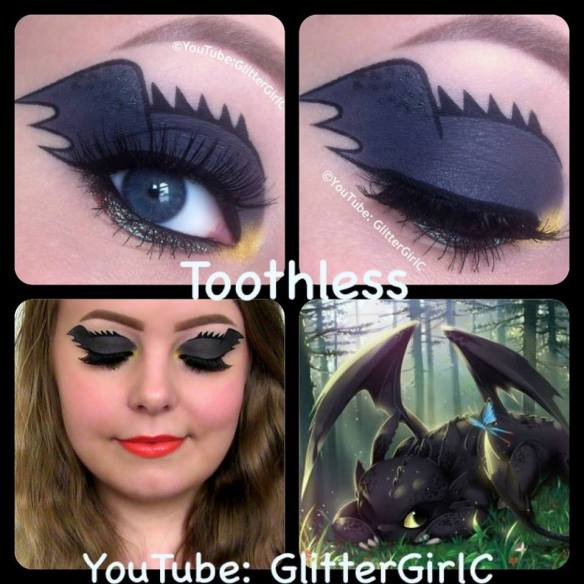 How To Train Your Dragon U2013 Toothless Makeup Look D | GlitterGirlC