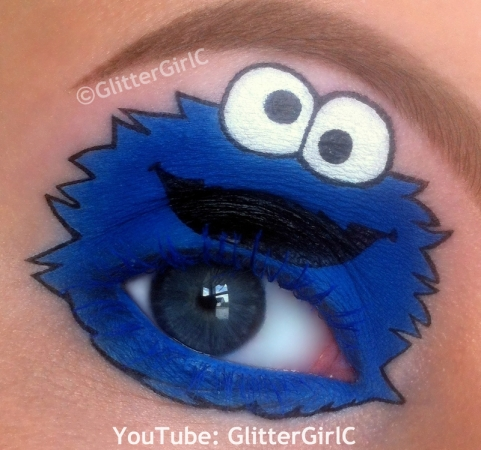 Cookie Monster makeup