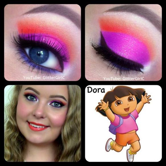 dora the explorer makeup