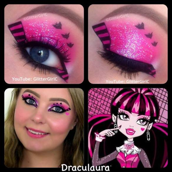 Draculaura makeup look Monster High