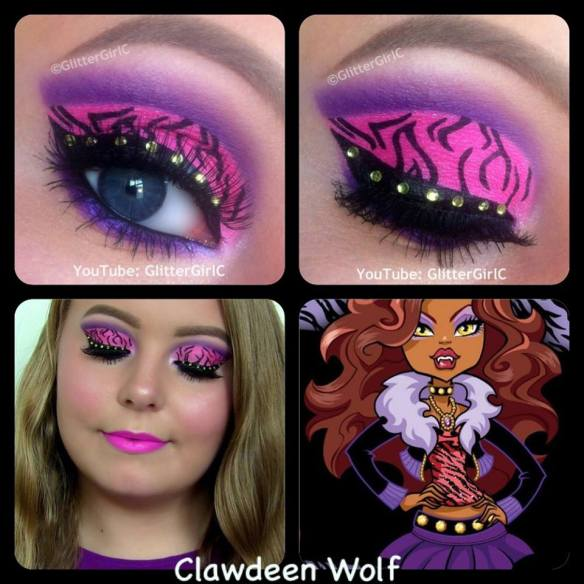 Monster High Clawdeen Wolf Makeup Look