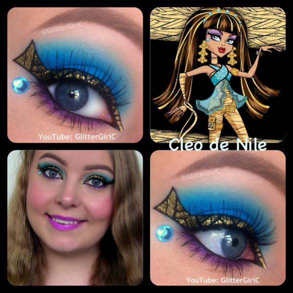 Monster High Cleo de Nile makeup