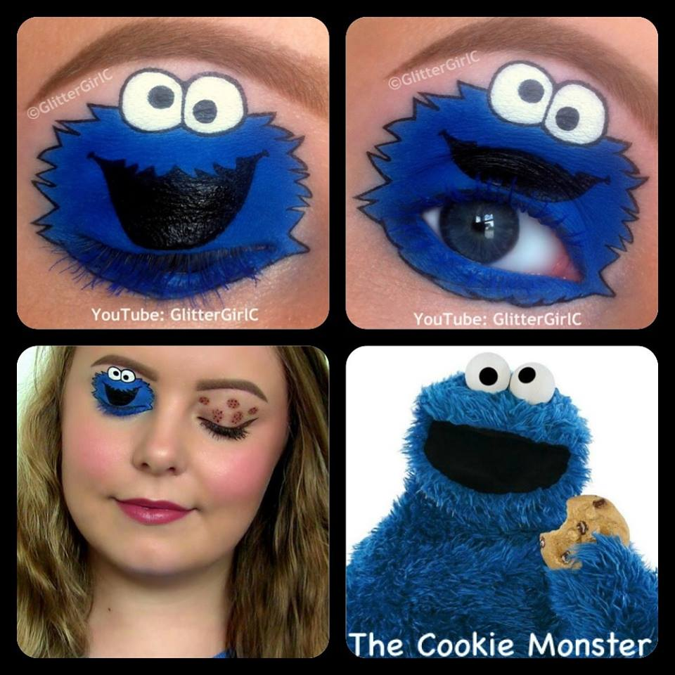 The Cookie Monster Makeup D Glittergirlc