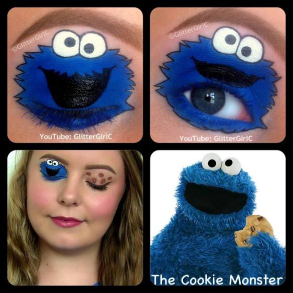 The Cookie Monster Makeup