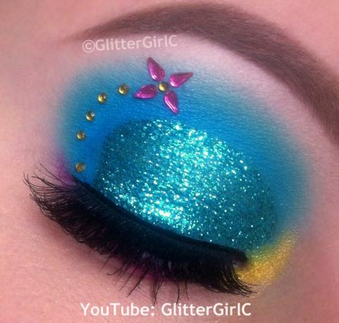 Lagoona Blue makeup