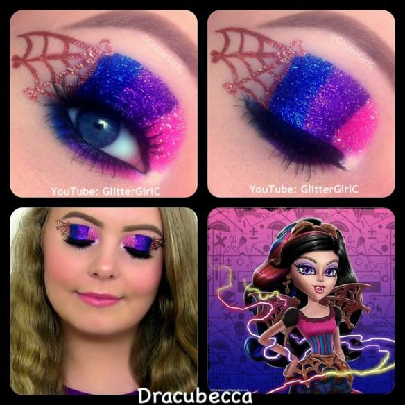 Monster High Dracubecca Makeup