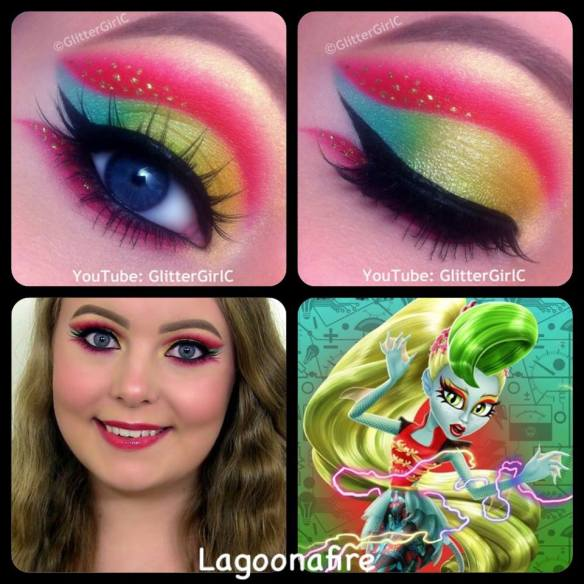 Monster High Lagoonafire makeup
