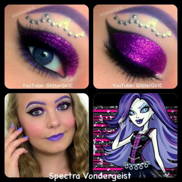 Spectra Vondergeist Monster High makeup