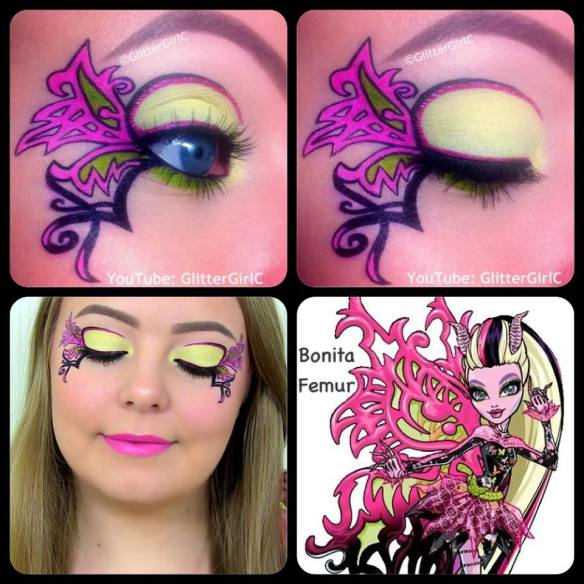 Monster High Bonita Femur makeup