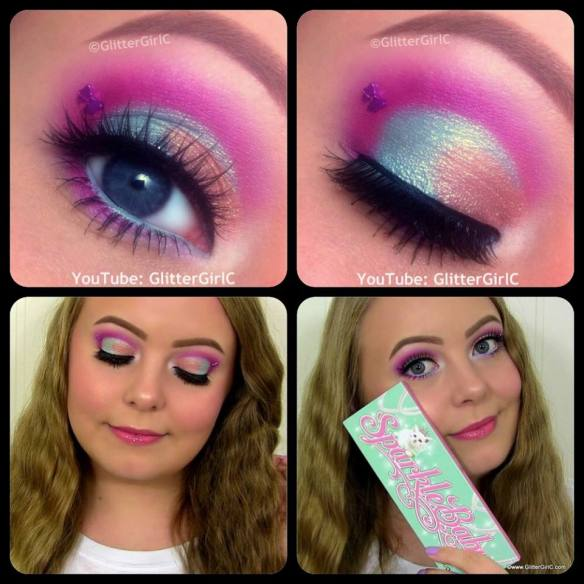Sugarpill Sparkle Baby Palette Makeup look