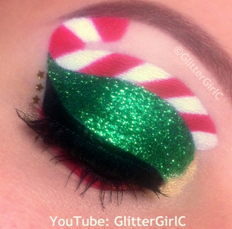 Christmas makeup candy cane