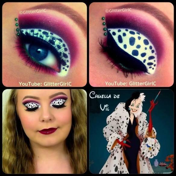 Cruella de Vil makeup