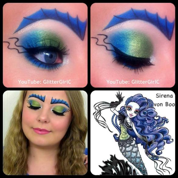 Monster High Sirena von Boo makeup