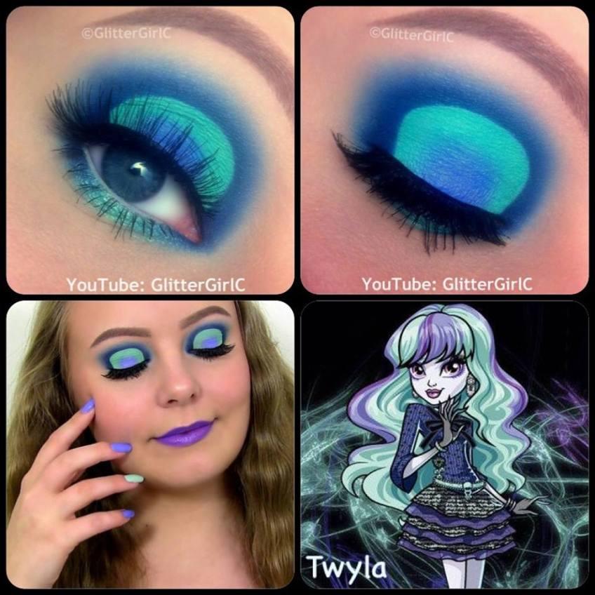 Monster High Twyla Makeup | GlitterGirlC