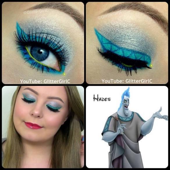 Disney Hades Makeup