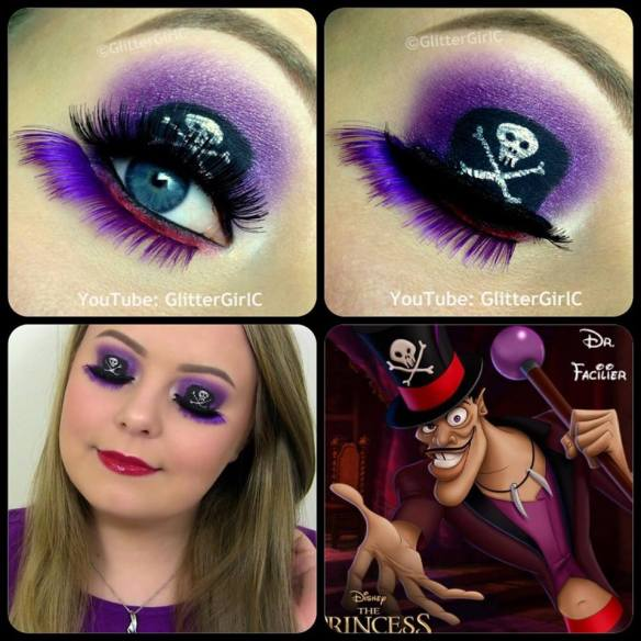 Dr. Facilier makeup Disney The Princess and the frog