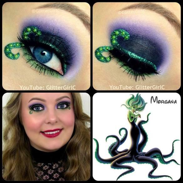 The Little Mermaid Morgana Makeup