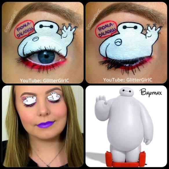 Baymax makeup