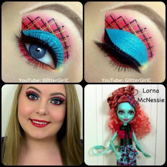 Monster High Exchange doll Lorna McNessie makeup