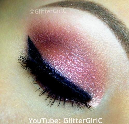 Pink Valentine makeup Naked 3