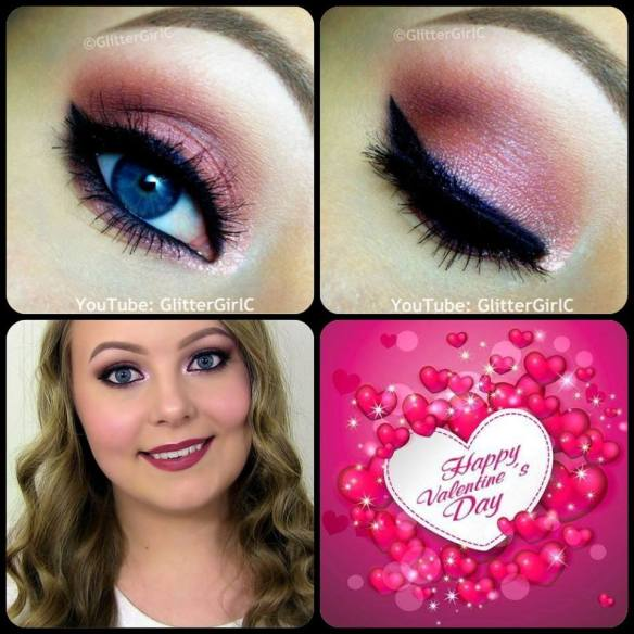 Pink Valentine's Day Makeup