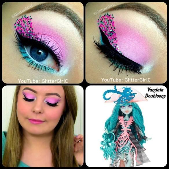Monster High Vandala Doubloons makeup