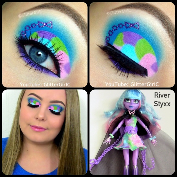 Monster High River Styxx Makeup Look