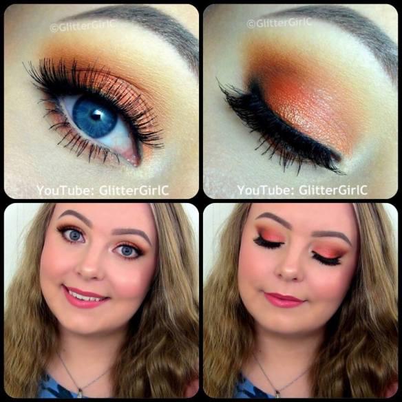 Orange summer makeup look