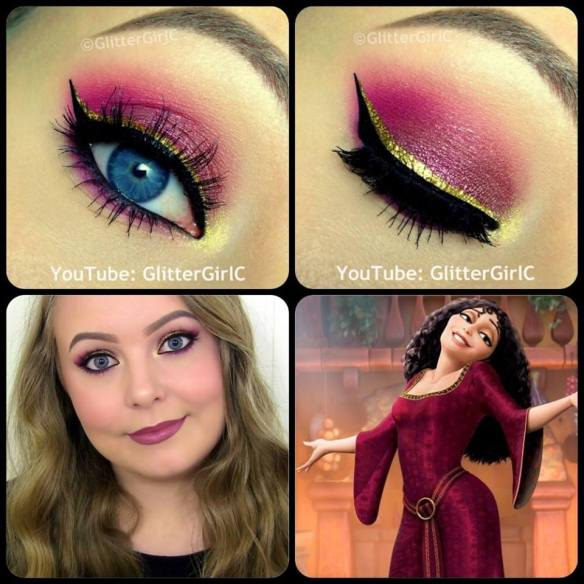 Tangled Mother Gothel makeup look
