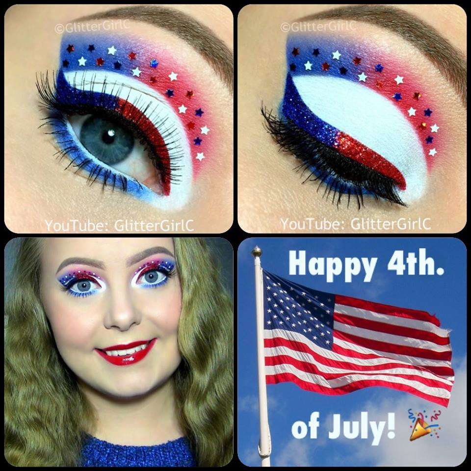 4th of july makeup look d glittergirlc 4th of july makeup look baditri Image collections