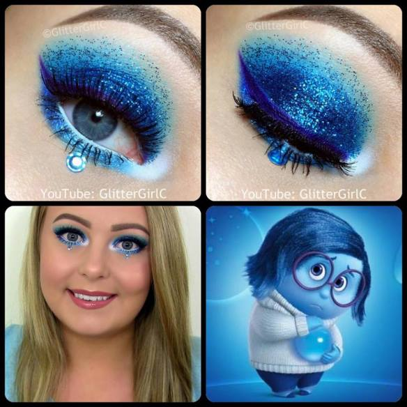 Inside Out Sadness Makeup