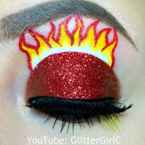 Inside Out Anger makeup
