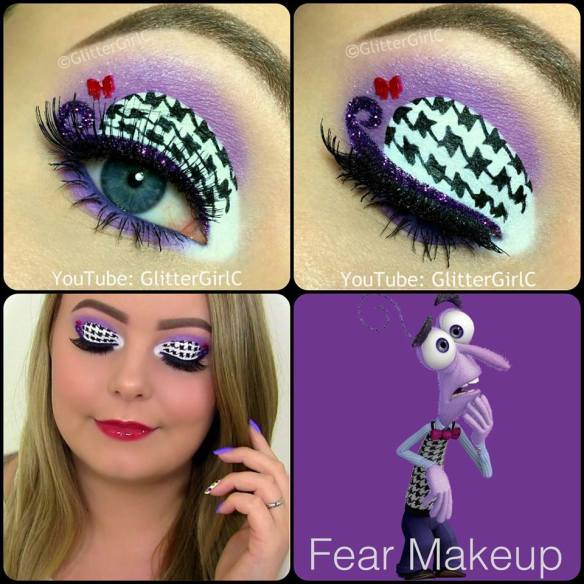 Inside Out Fear Makeup
