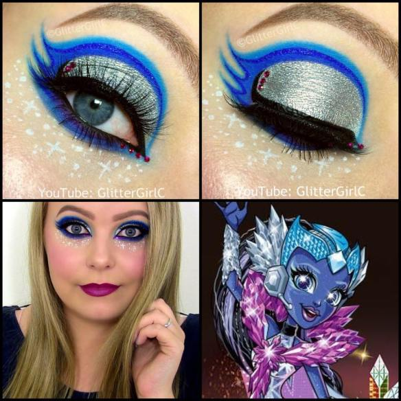 Monster High Astranova makeup look