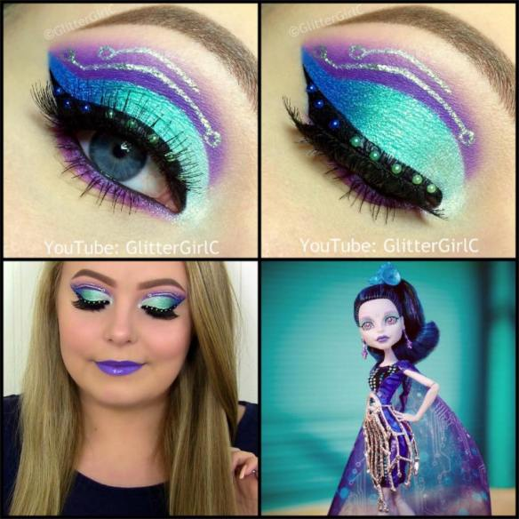 Monster High Boo York Boo York Elle Eedee Makeup look