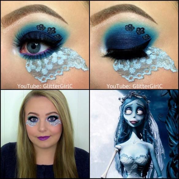 Corpse Bride Makeup Look Halloween