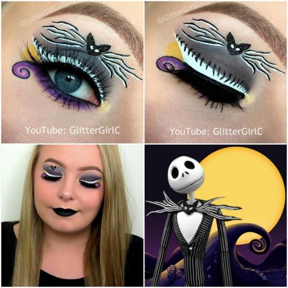 Halloween Jack Skellington Makeup look