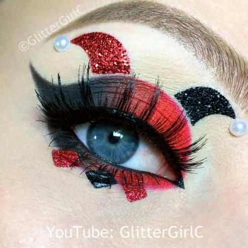 Harley Quinn makeup halloween 1
