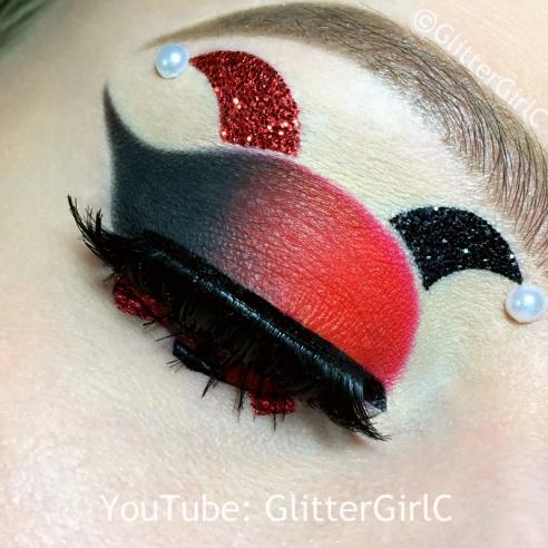Harley Quinn makeup halloween 2