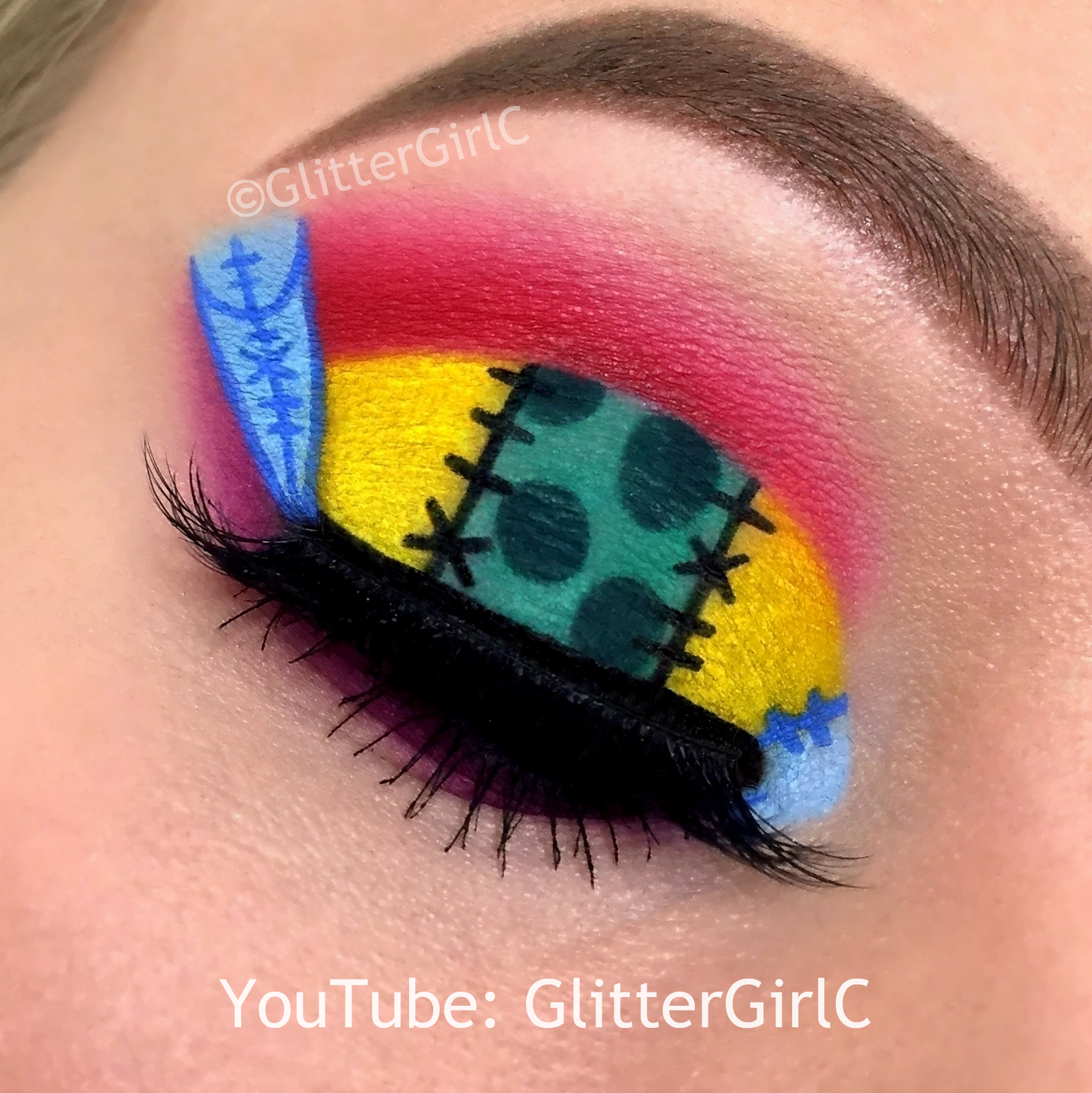Sally from The Nightmare Before Christmas Makeup :D | GlitterGirlC