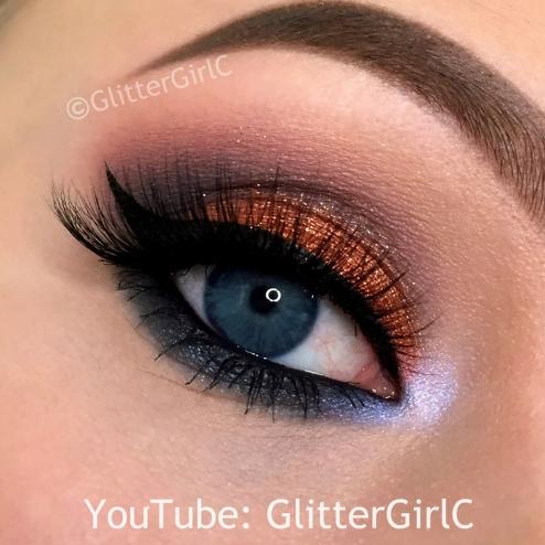 Sugarpill Pumkin Spice Edward Scissorhands palette makeup look