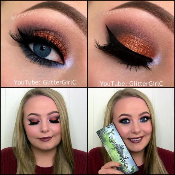 Sugarpill Pumpkin Spice Edward Scissorhands makeup look