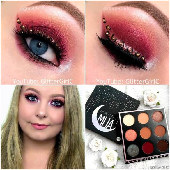Manny MUA Makeup geek palette look