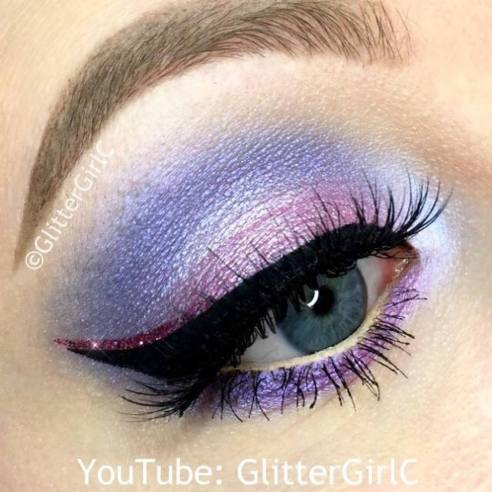 Spring Pastel Pink and Purple makeup