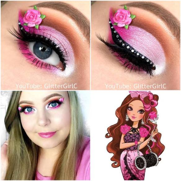 Ever After High Briar Beauty makeup