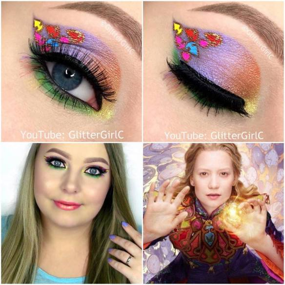 Alice throught the looking glass makeup