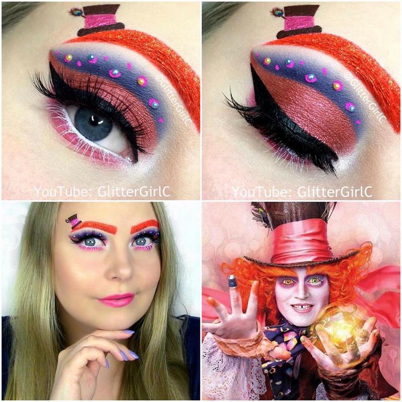 Mad Hatter Makeup Look | GlitterGirlC