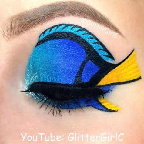 Finding Dory makeup look