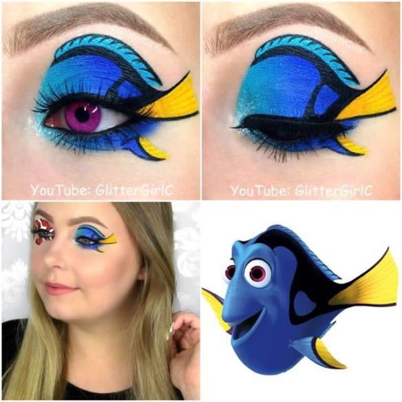 Dory makeup look
