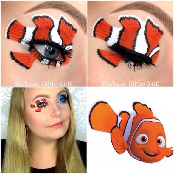 Nemo makeup look